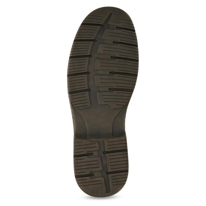 Hnědé kožené ležérní polobotky bata, hnědá, 826-4918 - 18