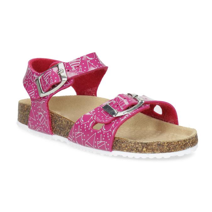 Dívčí korkové sandály růžové mini-b, růžová, 261-5209 - 13