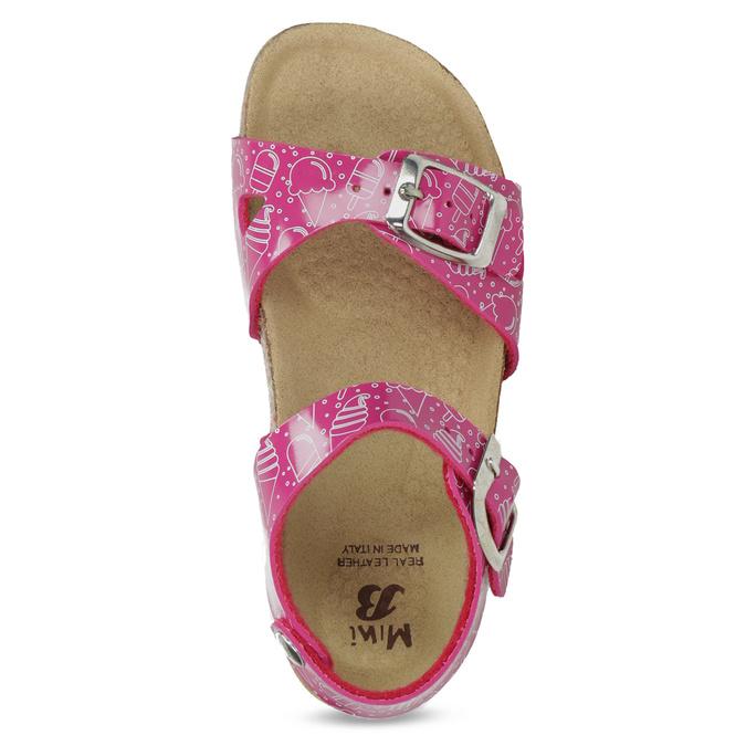 Dívčí korkové sandály růžové mini-b, růžová, 261-5209 - 17