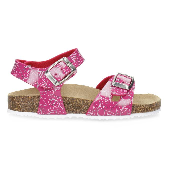 Dívčí korkové sandály růžové mini-b, růžová, 261-5209 - 19
