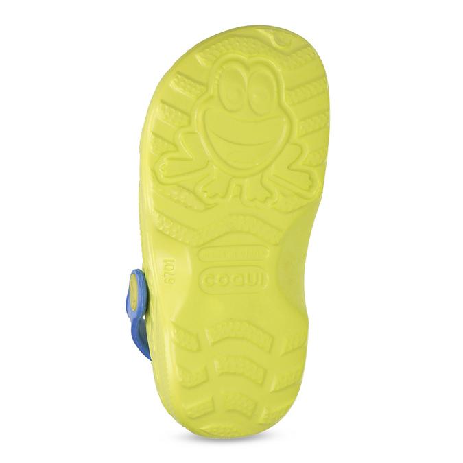 Dětské sandály s žabkou coqui, zelená, 272-7650 - 18