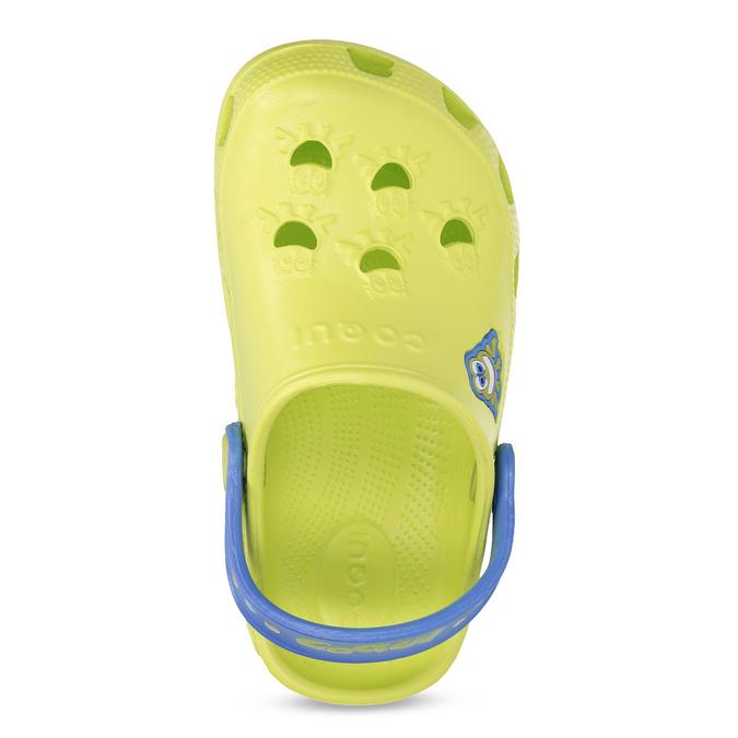Dětské sandály s žabkou coqui, zelená, 272-7650 - 17