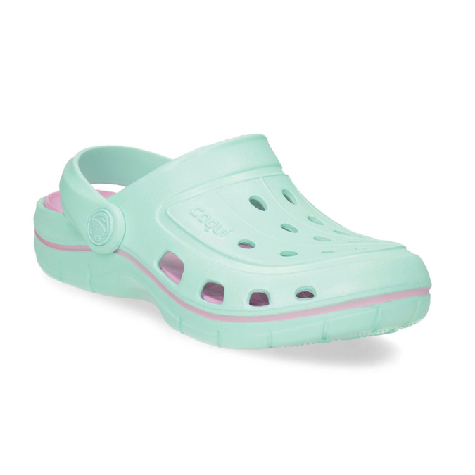 Dětské tyrkysové sandály Clogs coqui, tyrkysová, 372-7657 - 13