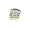 Kožené dámské sandály na suchý zip weinbrenner, šedá, 566-2608 - 15