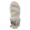 Kožené dámské sandály na suchý zip weinbrenner, šedá, 566-2608 - 17