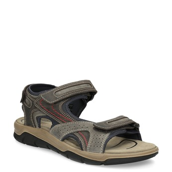 Kožené sandály na suché zipy hnědé weinbrenner, hnědá, 866-4642 - 13