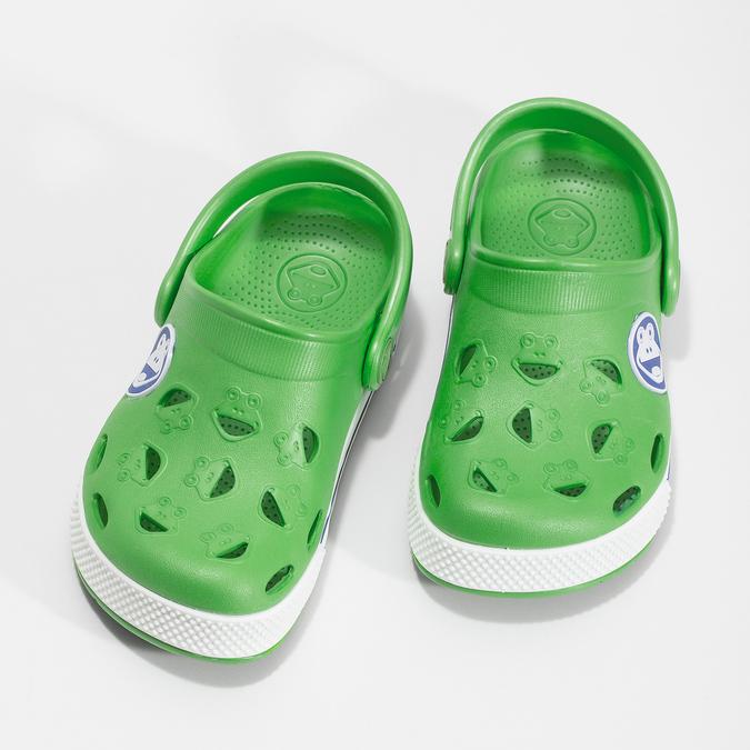 Dětské zelené sandály s žabkou coqui, zelená, 272-7603 - 16