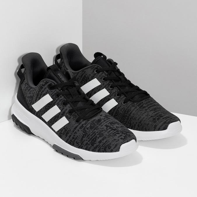 Pánské tenisky s melírovaným designem adidas, černá, 809-6301 - 26