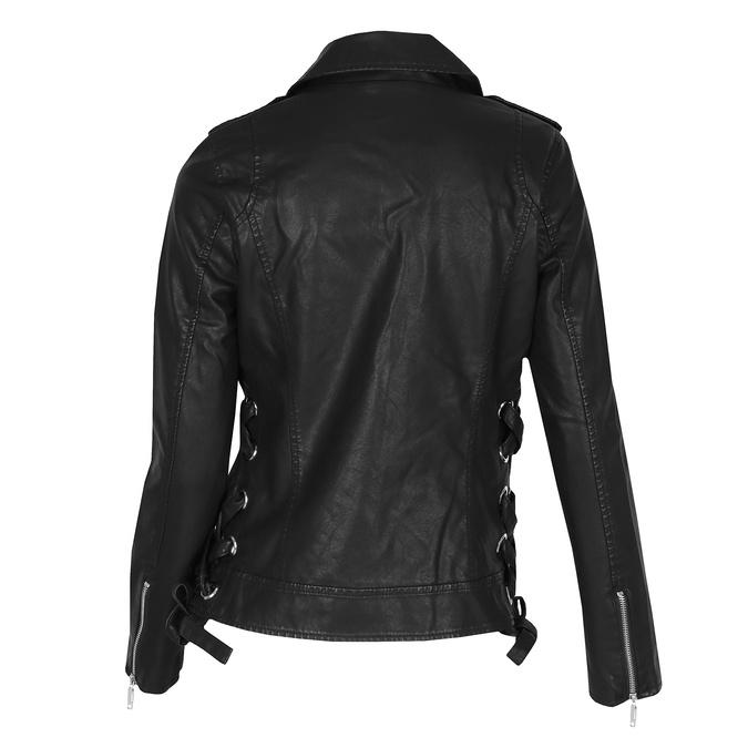 Koženková bunda v motorkářském stylu bata, černá, 971-6210 - 26