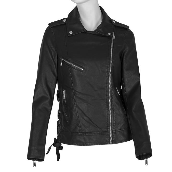 Koženková bunda v motorkářském stylu bata, černá, 971-6210 - 13