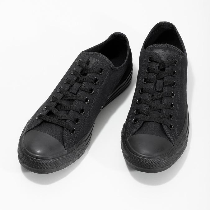 Černé textilní tenisky pánské converse, černá, 889-6279 - 16