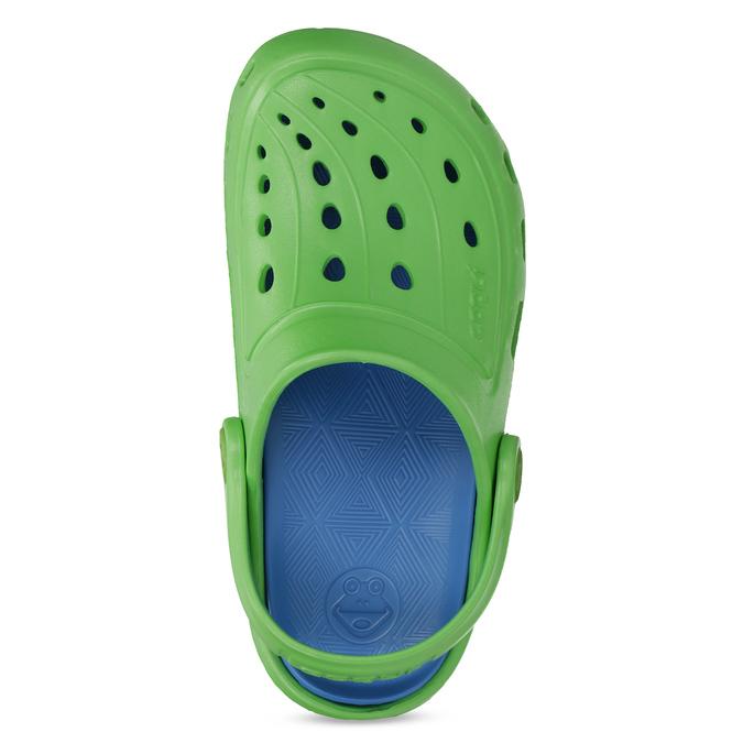Zelené dětské sandály typu Clogs coqui, zelená, 372-7656 - 17
