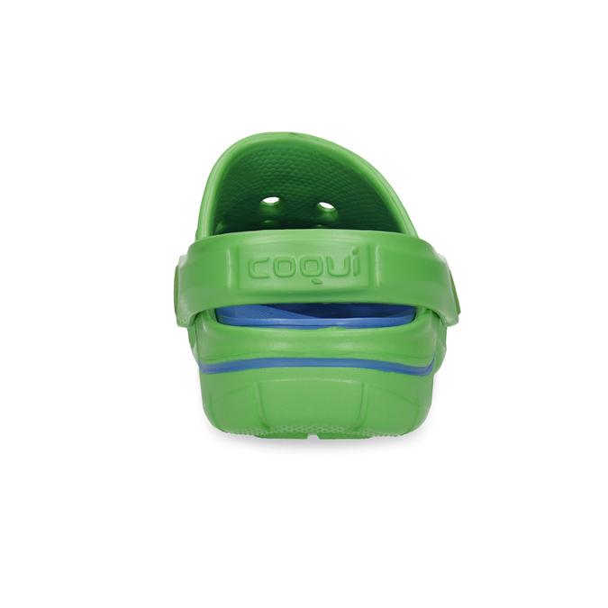 Zelené dětské sandály typu Clogs coqui, zelená, 372-7656 - 15