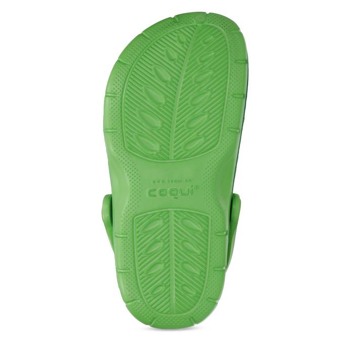 Zelené dětské sandály typu Clogs coqui, zelená, 372-7656 - 18