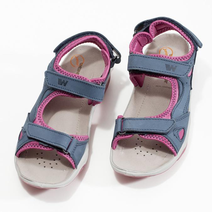 Dívčí sandály v Outdoor stylu weinbrenner, modrá, 466-9606 - 16