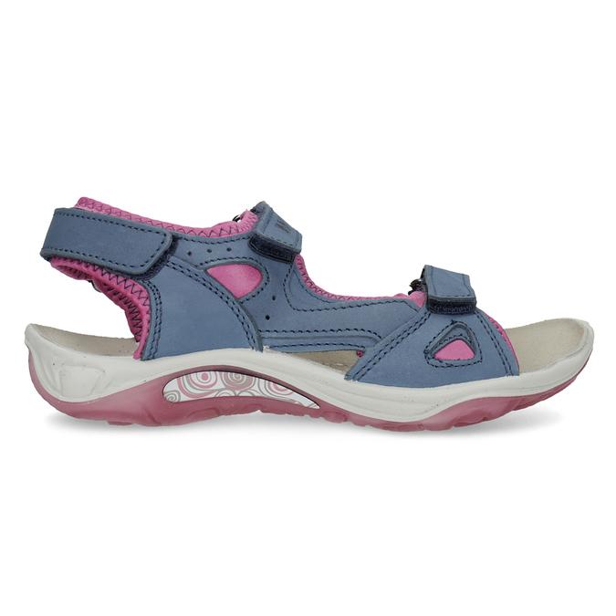 Dívčí sandály v Outdoor stylu weinbrenner, modrá, 466-9606 - 19