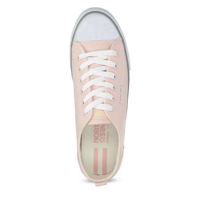 Světle růžové ležérní tenisky north-star, růžová, 589-5443 - 17