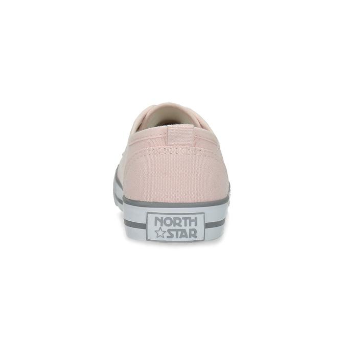 Světle růžové ležérní tenisky north-star, růžová, 589-5443 - 15
