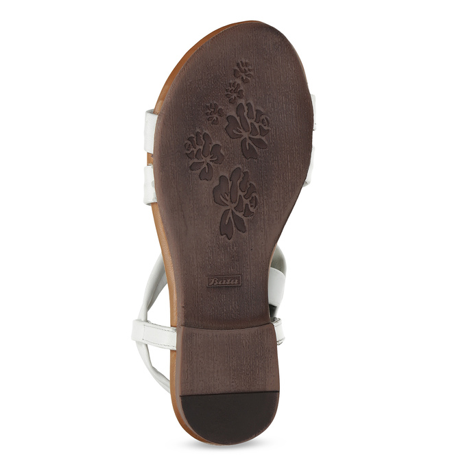 Bílé kožené sandály dámské bata, bílá, 566-1635 - 18