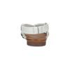 Bílé kožené sandály dámské bata, bílá, 566-1635 - 15