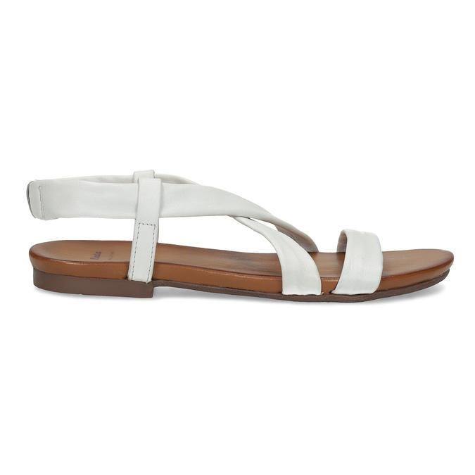 Bílé kožené sandály dámské bata, bílá, 566-1635 - 19