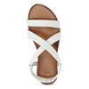 Bílé kožené sandály dámské bata, bílá, 566-1635 - 17