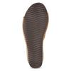 Kožené korkové nazouváky na klínku bata, hnědá, 766-3615 - 18