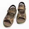 Kožené pánské sandály se suchými zipy béžové weinbrenner, hnědá, 866-2644 - 16