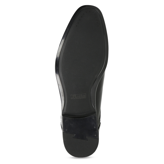 Kožené černé pánské polobotky bata, černá, 824-6758 - 18
