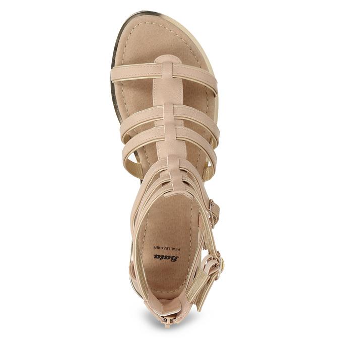 Béžové dámské sandály Gladiátorky bata, 561-8620 - 17