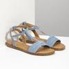 Světle modré dámské sandály bata, modrá, 569-9619 - 26