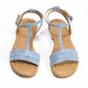 Světle modré dámské sandály bata, modrá, 569-9619 - 16