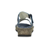Modré nazouváky s kamínky na klínku comfit, modrá, 574-9438 - 15
