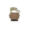 Kožené bílé nazouváky na klínku comfit, bílá, 774-1107 - 15