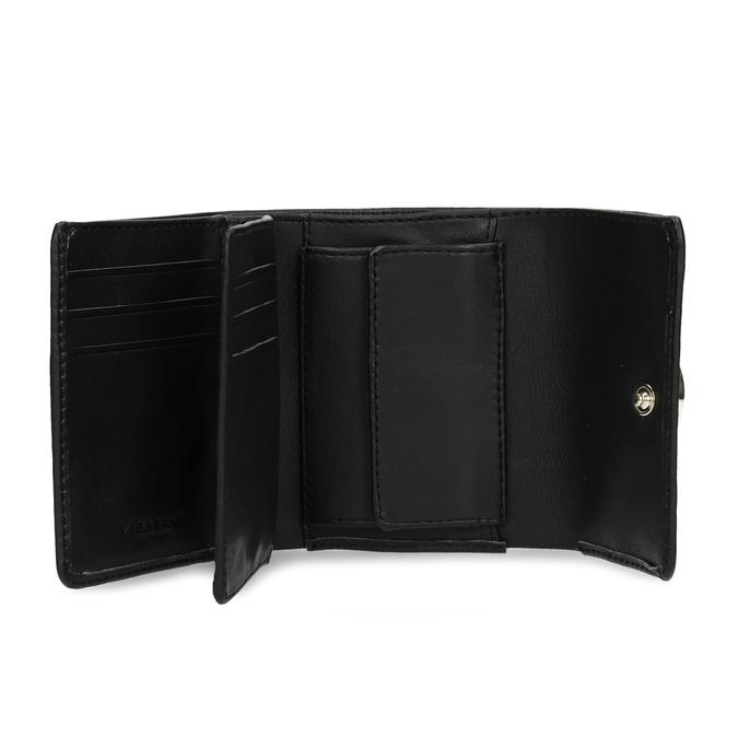 Černá kožená peněženka se zlatým zapínáním vagabond, černá, 966-6063 - 15