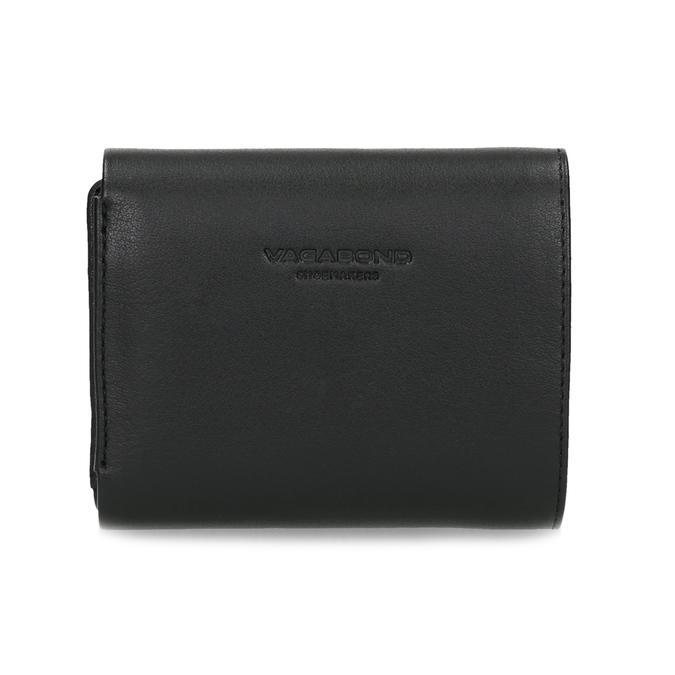 Černá kožená peněženka se zlatým zapínáním vagabond, černá, 966-6063 - 16