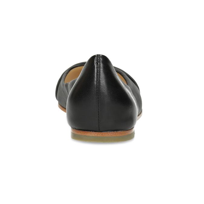 Kožené černé baleríny se cvočky hogl, černá, 524-6053 - 15