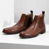 Hnědé kožené Chelsea Boots bata, hnědá, 896-3400 - 16