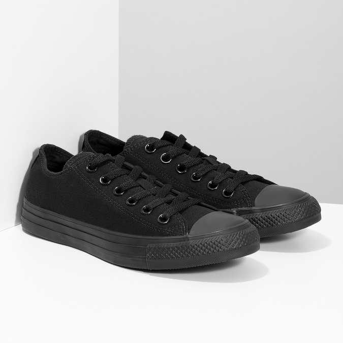 Černé plátěné tenisky dámské converse, černá, 589-6179 - 26