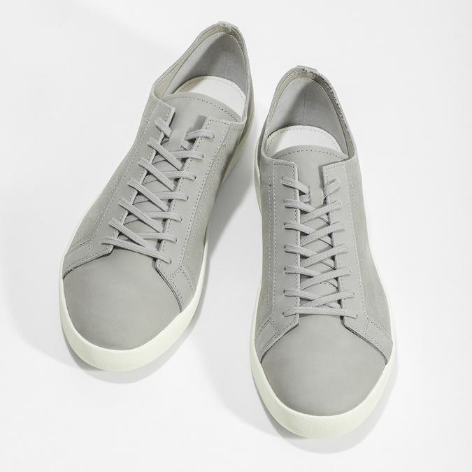 Pánské kožené tenisky šedé vagabond, šedá, 826-2020 - 16