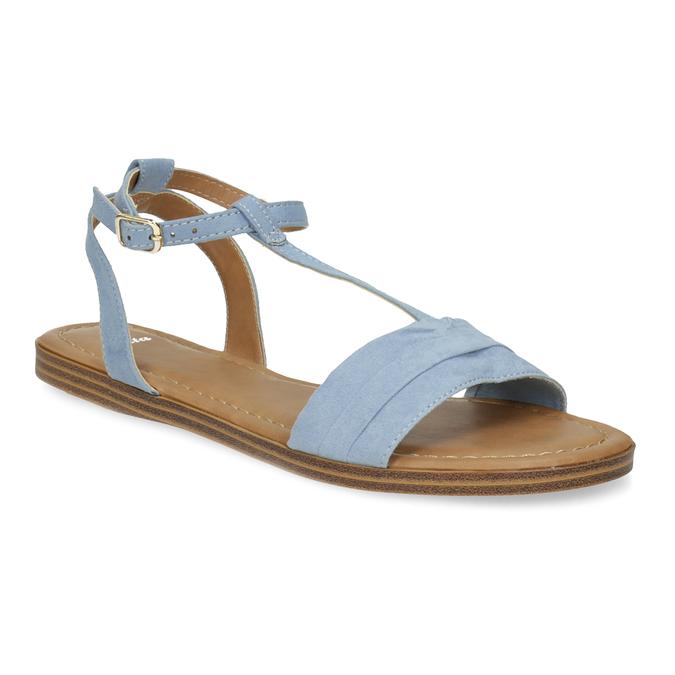 Světle modré dámské sandály bata, modrá, 569-9619 - 13