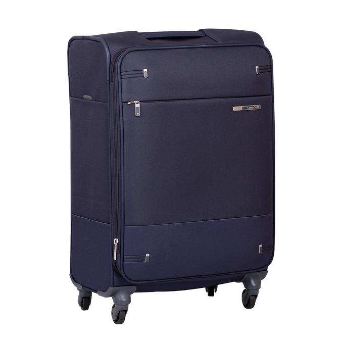 Tmavě modrý texilní kufr na kolečkách menší samsonite, modrá, 960-9040 - 13