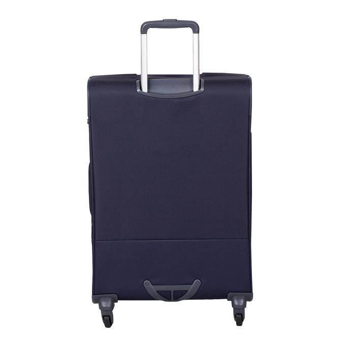 Tmavě modrý texilní kufr na kolečkách menší samsonite, modrá, 960-9040 - 26