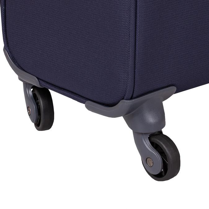 Tmavě modrý texilní kufr na kolečkách menší samsonite, modrá, 960-9040 - 16