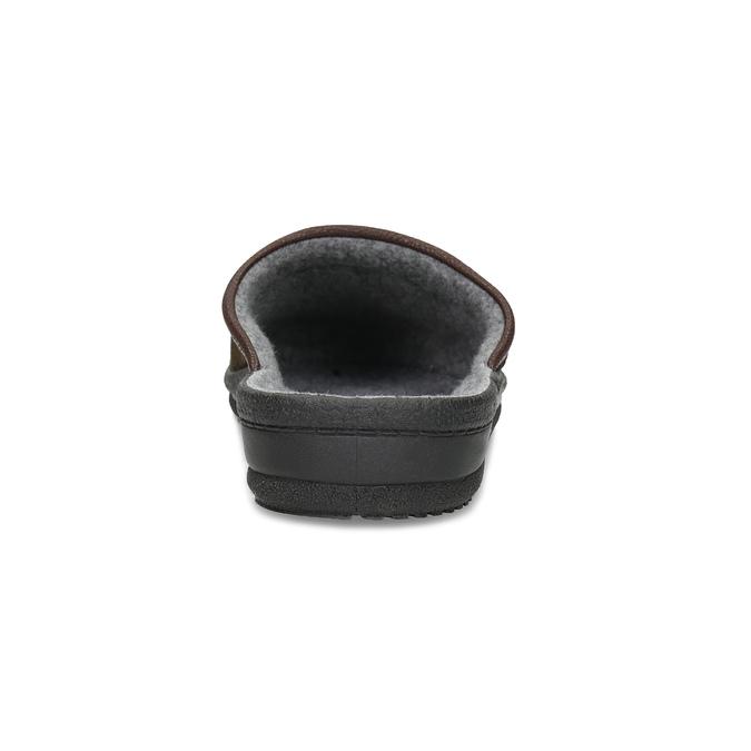 Pánská domácí obuv bata, hnědá, 879-4600 - 15