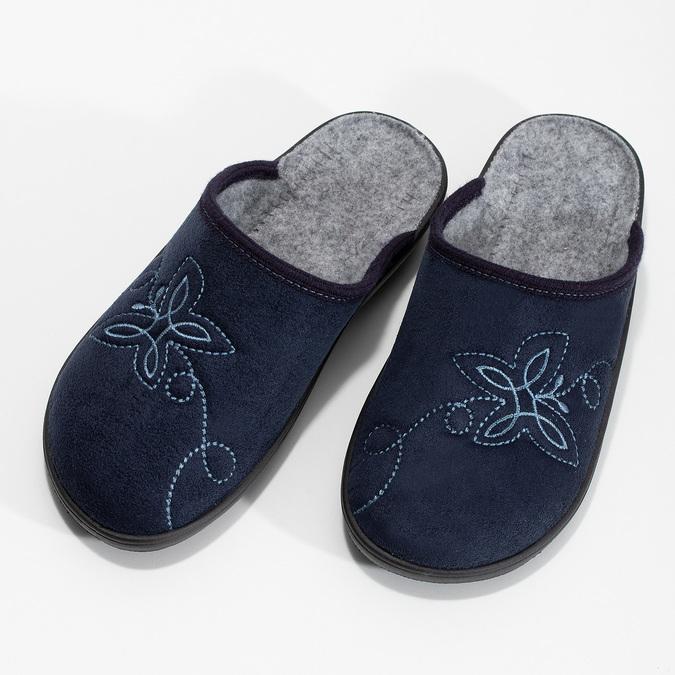 Dámská domácí obuv modrá bata, modrá, 579-9621 - 16