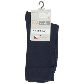 Vysoké pánské ponožky fialové matex, modrá, 919-9313 - 13