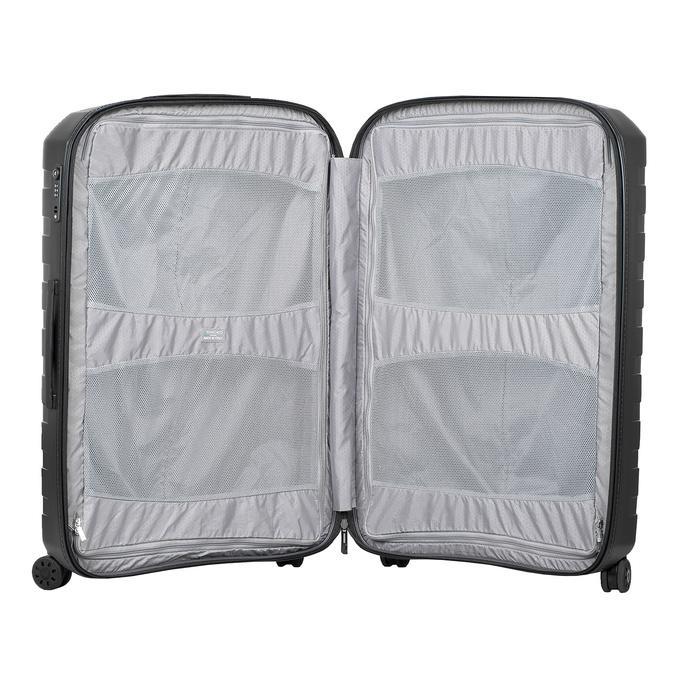 Skořepinový kufr černý velký roncato, černá, 960-9726 - 17
