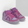 Dívčí kotníčková kožená obuv bubblegummers, růžová, 123-5601 - 26