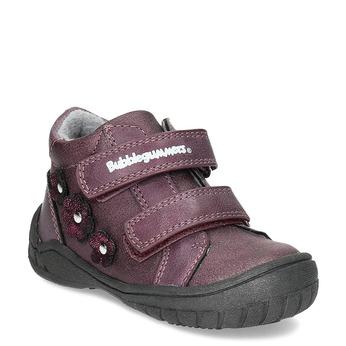Fialové dívčí boty s kytičkami bubblegummers, fialová, 121-5622 - 13